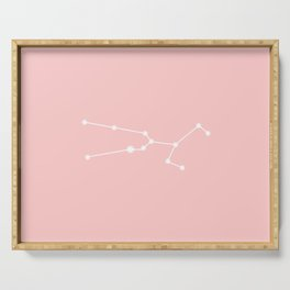 Taurus Star Sign Soft Pink Serving Tray