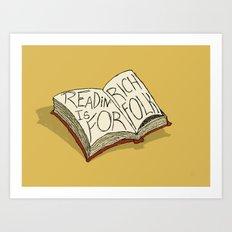 Readin' is for Rich Folk! Art Print