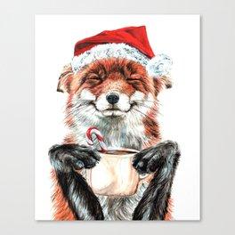 Morning Fox Christmas Canvas Print