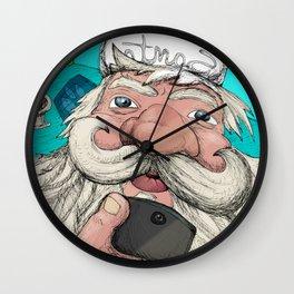 #santa#selfie Wall Clock
