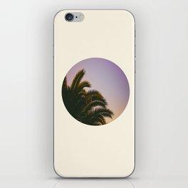 Sunset Purple Palm Tree Circle Photo iPhone Skin