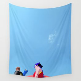 Super...on the beach Wall Tapestry