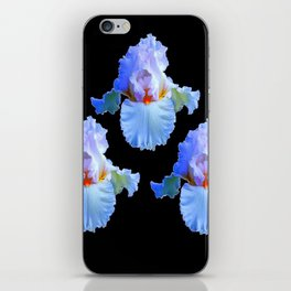 PASTEL BLUISH WHITE IRISES iPhone Skin