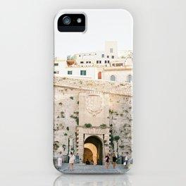 "Travel photography ""Entrance Eivissa Ibiza"" | Printable photo art Spain iPhone Case"