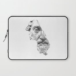 MARCUS AURELIUS ANTONINUS AUGUSTUS / black / white Laptop Sleeve