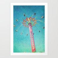vertigo Art Prints featuring vertigo by Sylvia Cook Photography