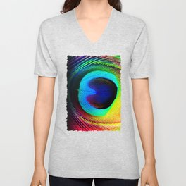 Colorfull Feather Peacock Unisex V-Neck
