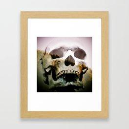 Horror in the woods Framed Art Print