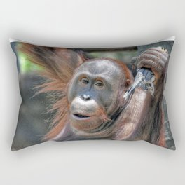 Orangutan Rectangular Pillow