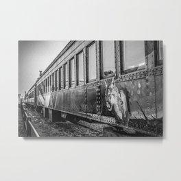 Skunk Train Side View Metal Print