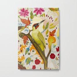 Green Woodpecker Metal Print