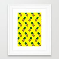 pineapples Framed Art Prints featuring Pineapples by Ella Lama