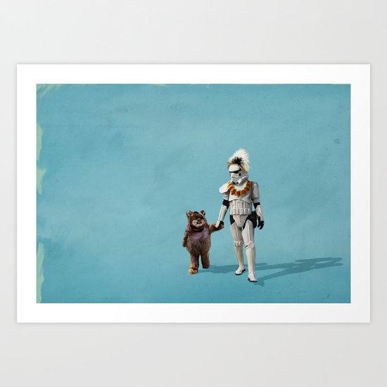 Star Wars Buddies Art Print