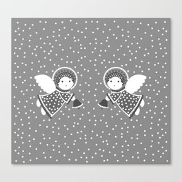 Angels on the gray Canvas Print