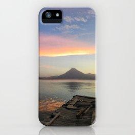 Lake Atitlan Sunsets iPhone Case