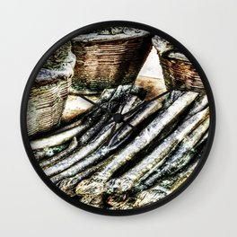 vegetables from steel Wall Clock