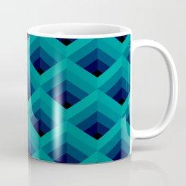Dark Teal Diamond Mesh Coffee Mug