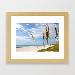 Mark Your Piece of Paradise Framed Art Print