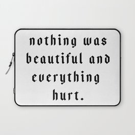 The Pessimist Laptop Sleeve