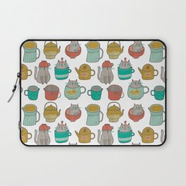 Pattern Project #5 / Cats and Pots Laptop Sleeve