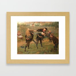 Ralph Hedley The Tournament 1898 Framed Art Print
