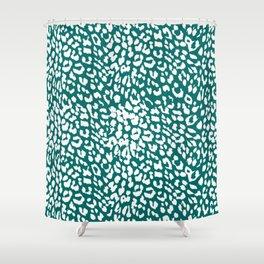 Leopard Quetzal Green Shower Curtain