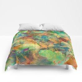 Hibiscus Trumpets #1 Comforters