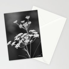 Black and White Floral Stationery Cards