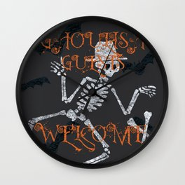 Ghoulish Guests Welcome Wall Clock