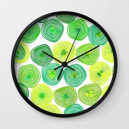 Lemon-Lime Lift Spring Abstract Wall Clock