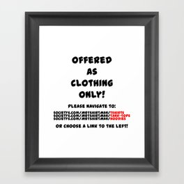 The Piss Boy Framed Art Print
