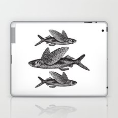 Flying Fish | Black and White Laptop & iPad Skin