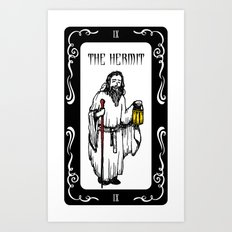 The Hermit Tarot Art Print