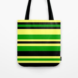 Jamaican Inspired Strips Tote Bag