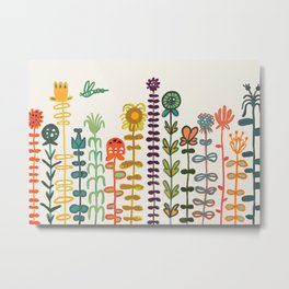 Happy garden Metal Print