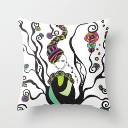 Flower Dreams Throw Pillow