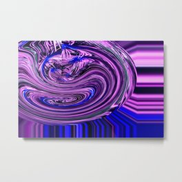 BLUE PURPLE ABSTRACTION Metal Print