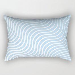 Whiskers Light Blue & White #285 Rectangular Pillow