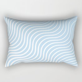 Whisker Pattern - Light Blue & White #285 Rectangular Pillow