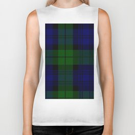 MY BLACK WATCH TARTAN Biker Tank