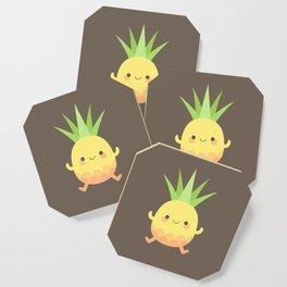 Happy pineapple kids Coaster