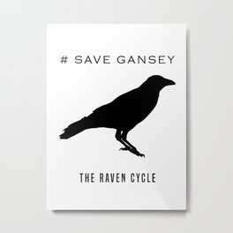 #SAVE GANSEY Metal Print
