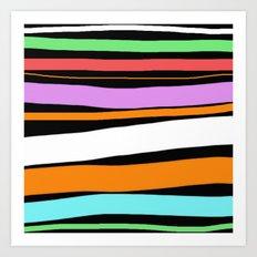 Pastel Brush Strokes Art Print