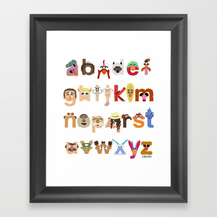 The Great Muppet Alphabet (the sequel) Framed Art Print
