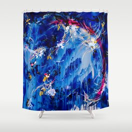 As The Universe Falls Together Shower Curtain