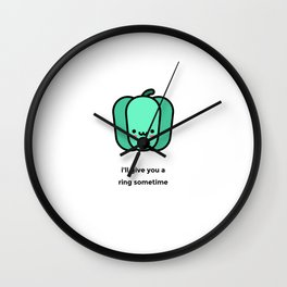 JUST A PUNNY BELL PEPPER JOKE! Wall Clock