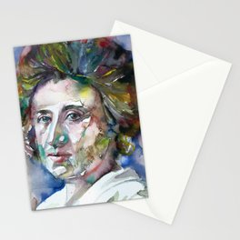ROSA LUXEMBURG watercolor portrait Stationery Cards