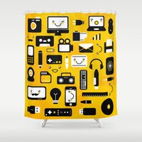 technology Shower Curtains featuring Technology  by adrianperive