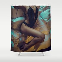 dreamer Shower Curtains featuring Dreamer by MKGRAPHY