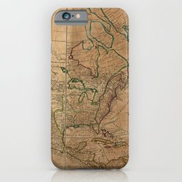Map of North America by Herman Moll (1715) iPhone Case